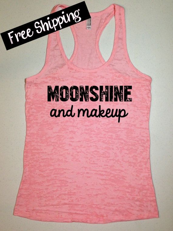 Moonshine and Makeup. Southern Girl Tank Top. by BlessonsApparel, $26.00