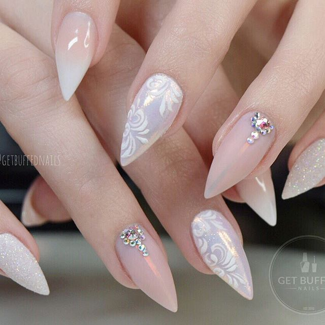 Bride Vibes #throwbackthursday to these lovely little engagement ready fingers  @gfa_australia NU14  @glitter_heaven_australia Snow White glitter @uglyducklingnails acrylic/matte top
