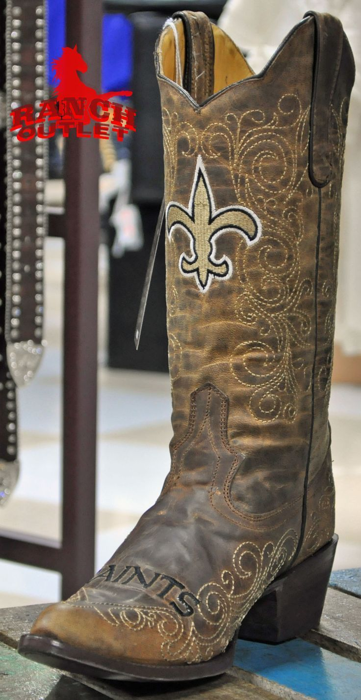 New Orleans Saints Cowboy boots @Shelly Credeur