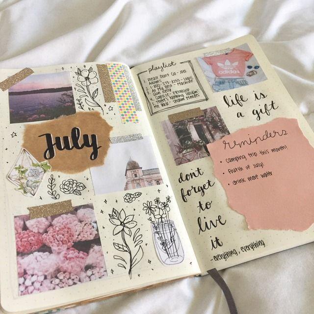 Beautiful sketchbook collage.