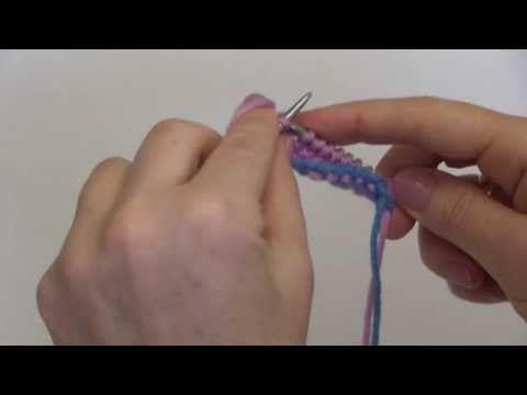 Планета Вязания | Трубчатый набор петель спицами. Фотоурок и видеоурок по вязанию.