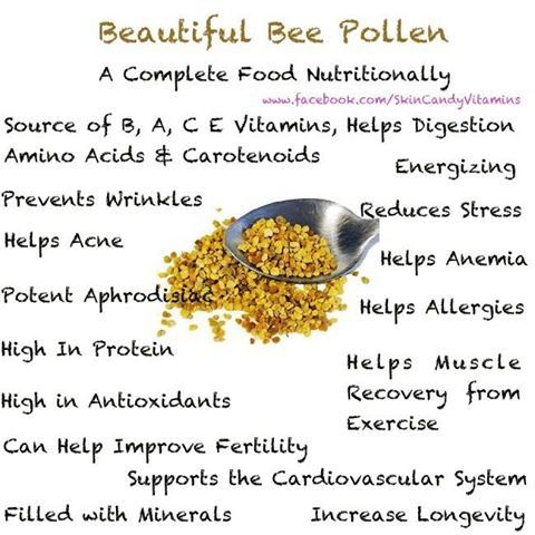 Bee Pollen and some of it's many and vast uses and benefits.