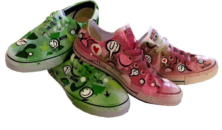 Wedding Converse + Vans customized by Willow 2014