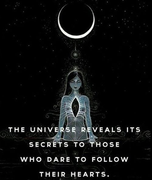 The universe reveals its energy to those who dare to follow their hearts  Positive Energy Quotes