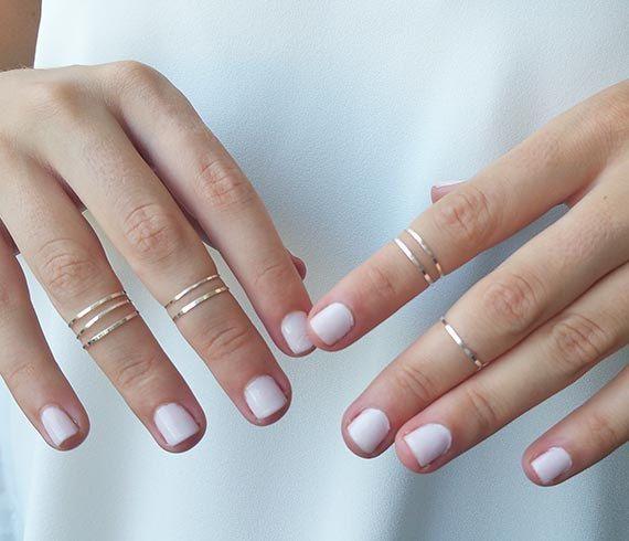 8 boven de knokkel ringen ringen zilver stapelen door HLcollection