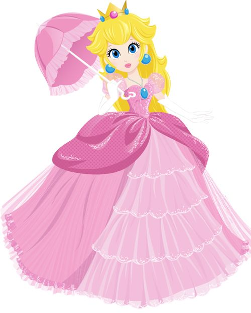 Lovely Princess Peach illustration by Jenny Chung