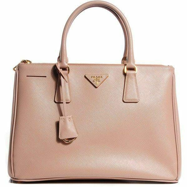 e6ae369299ec Details about Prada Black Purse Handbag Tote Saffiano Lux Double Zip ...