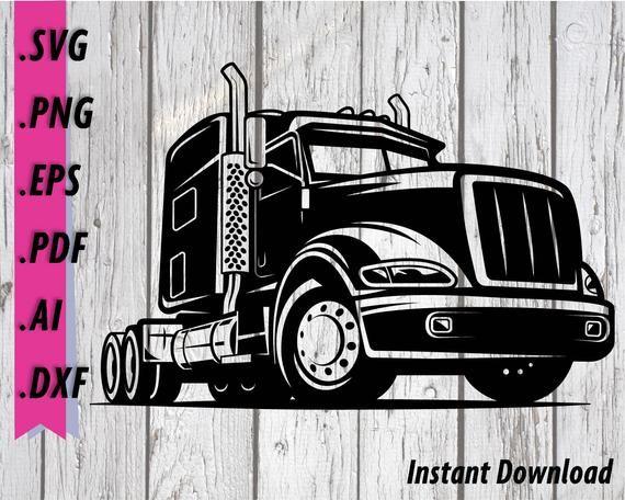 Semi Truck Svg Truck Driver Semi Truck Clipart 18 Wheeler Etsy In 2021 Semi Trucks Truck Driver Svg