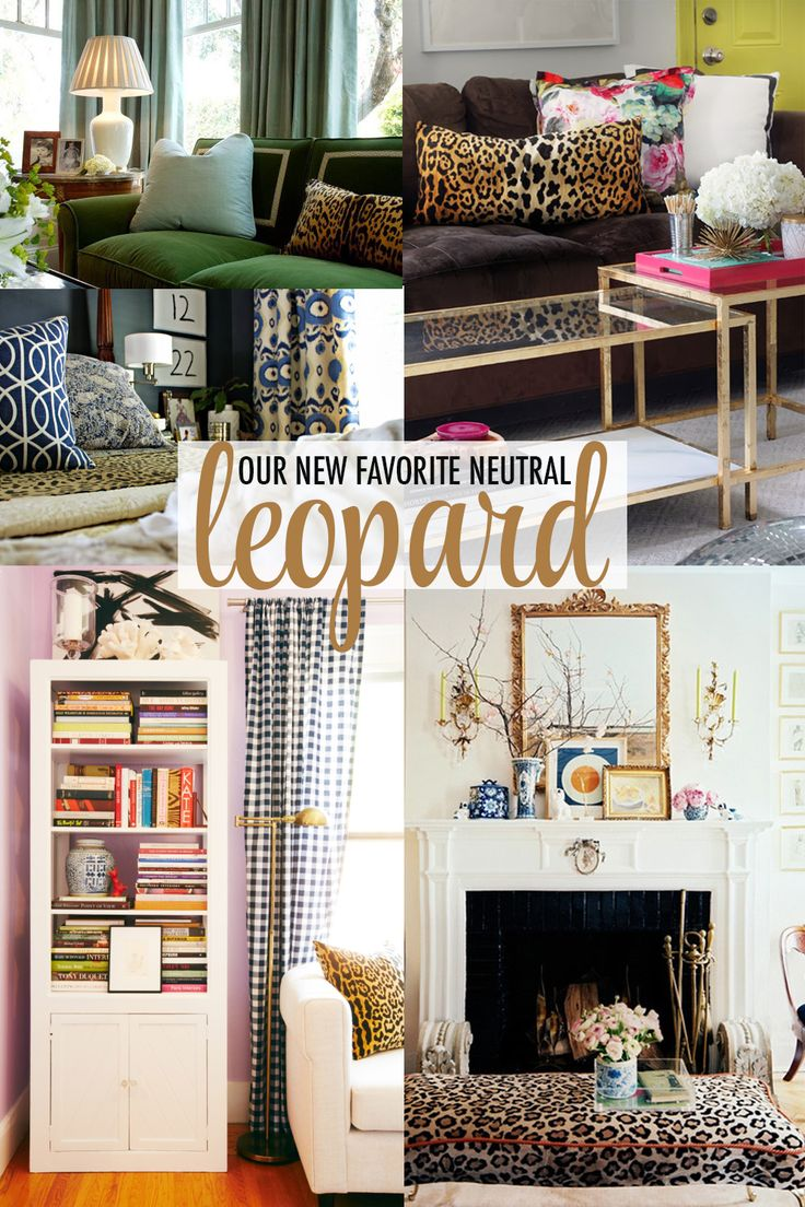 How to style the home with Leopard as a neutral