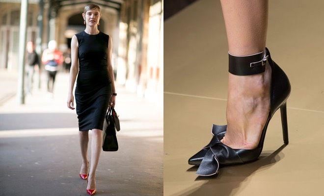 Vestito nero al ginocchio dolore