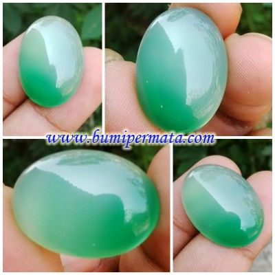 CM186 Batu Permata Green Chrysoprase - Chalcedony Hijau