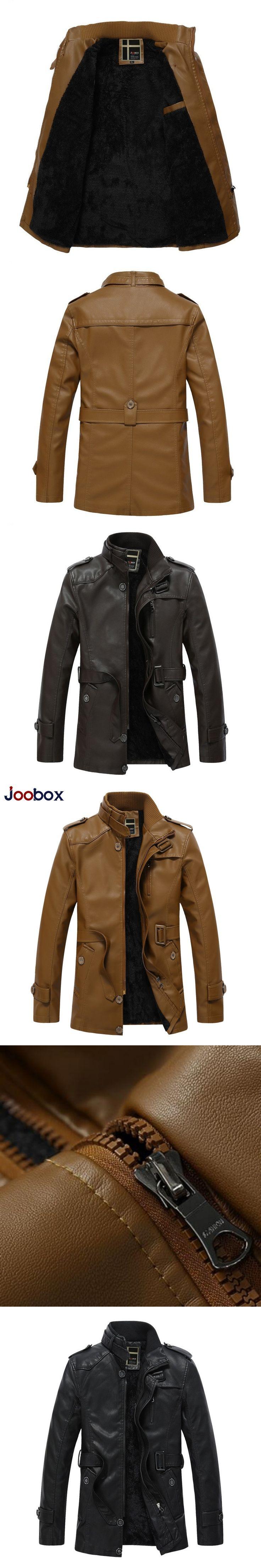 Retro Casual Plus Size Slim Fit Fur Lining Windwear Zip Jacket Casacas De Cuero Para Hombre Motorcycle Male Jaqueta Couro Homem