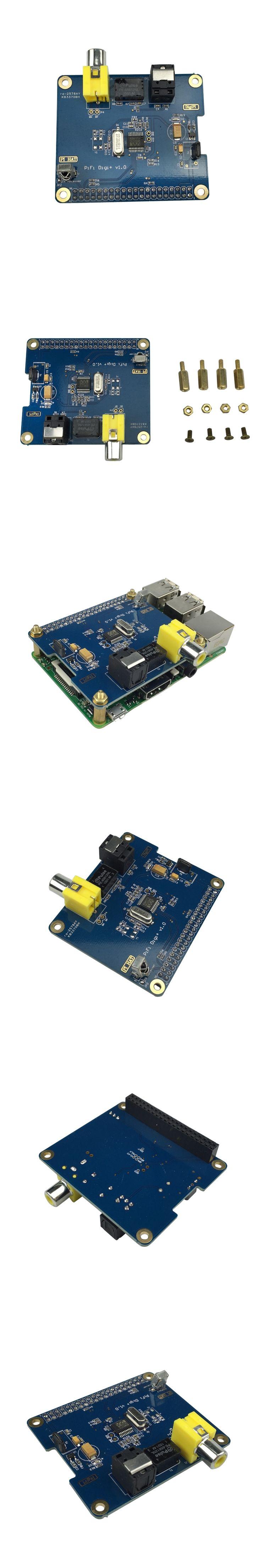 New Raspberry Pi 3 Digital Audio Board Sound Card Expansion Board I2S Interface support Raspberry Pi 2 Model B