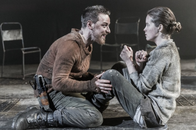 James McAvoy and Claire Foy in Macbeth in London! BLOOD MISTERS BABY!! Saw this live in London-FANTASTIC!!!!!!!