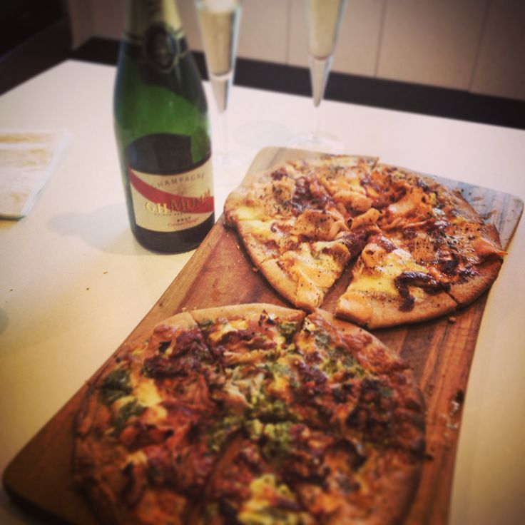 Pizza and bubbles