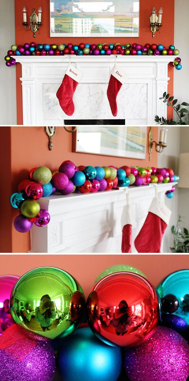 DIY Christmas Garland It takes 10 minutes (Click Photo) - - Bookmark
