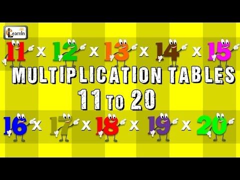 Multiplication tables 11 to 20 multiplication songs for for 10 times table song