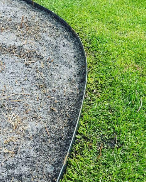 Straightcurve corten staal kantopsluiting 75 mm. hoogte