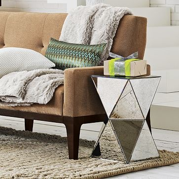 Faceted Mirror Side Table. Http://www.westelm.com/products