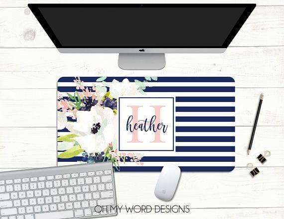 Personalized Desk Mat Desk Mat Over Sized Mouse Pad Neoprene Personalized Desk Desk Mat Word Design