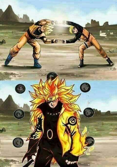 Naruto Y Goku Fusionado
