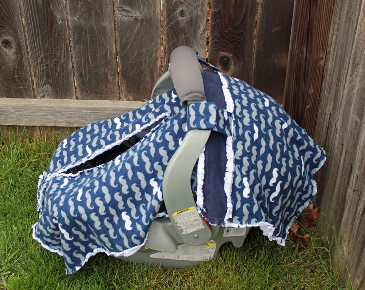 Adorable Rag Mustache Car Seat Canopy with Minky Back!  Perfect gift to keep any baby in style! by BabyBazerk on Etsy