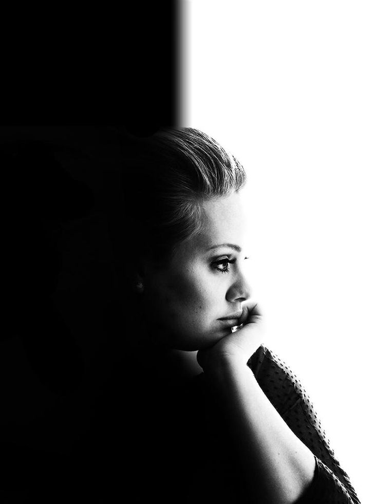 Adele    I LOVE this portrait!!  The fallout of both the black and white is awesome