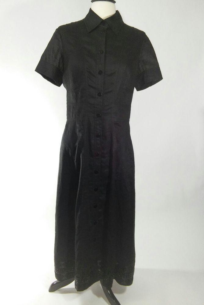 Black linen dresses on ebay