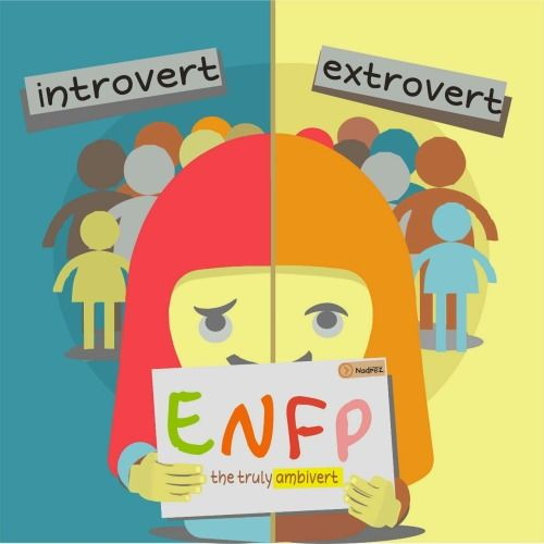 "Even though ENFPs loves being around people, they crave alone time much more than the average extrovert. ENFPs search for a deeper meaning in just about everything, and use their much-coveted alone time to decide how their experiences fit in with their system of core values. It's not psychological disorder, it's just about some of them modified to have balance extro-intro function. ENFPs ""The truly Ambivert"" myersandbriggs"