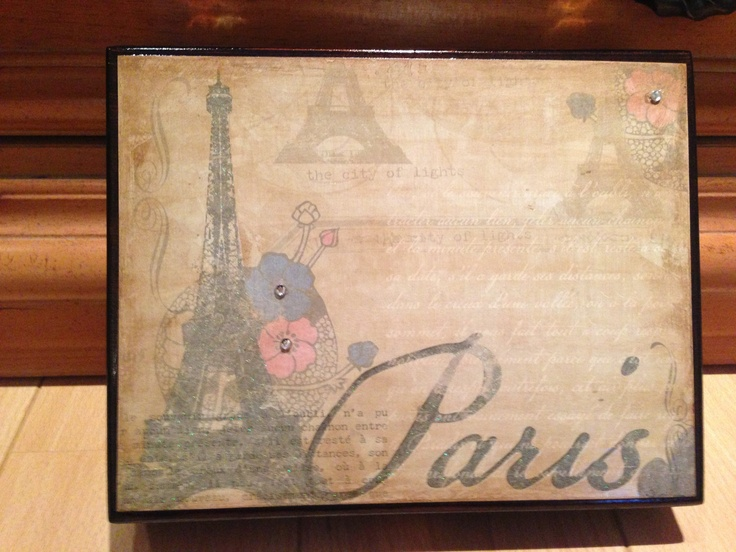 Paris Repurposed Cigar Box/ Jewlry Box/ by PurrtyNeatStuff on Etsy, $29.95