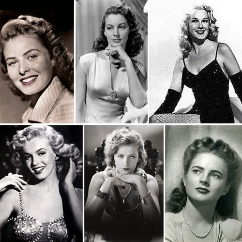 Old Hollywood Glam at it's best: 1940Sball Vintagehair, Old Hollywood, 40S Style, Hollywood Glamour, Vintage Hair, Style Hair, 1940S Hairstyles, Hair Style, Curly Hair