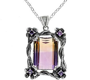 Or Paz Sterling 14.75 cttw Ametrine Pendant w/Chain