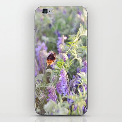 Bumble Bee iPhone & iPod Skin from FloraInspiro SHOP http://shop.florainspiro.com