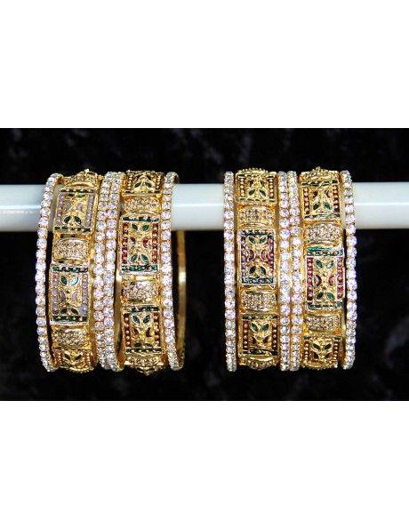 Delightful Sangeet Bangles Item code : BNG815  http://www.bharatplaza.com/ready-to-ship/jewellery/delightful-sangeet-bangles-bng815.html https://www.facebook.com/bharatplazaportal https://twitter.com/bharat_plaza