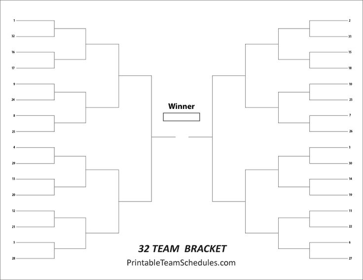 team brackets templates