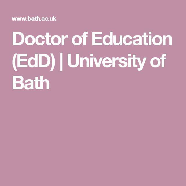 Doctor of Education (EdD)   University of Bath