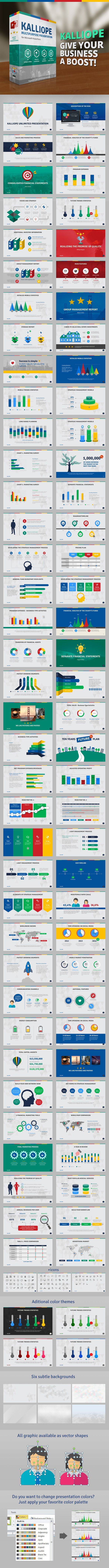 Kalliope PowerPoint Template  #presentation #social media #1920x1080 • Click here to download ! http://graphicriver.net/item/kalliope-powerpoint-template/9154573?s_rank=168&ref=pxcr