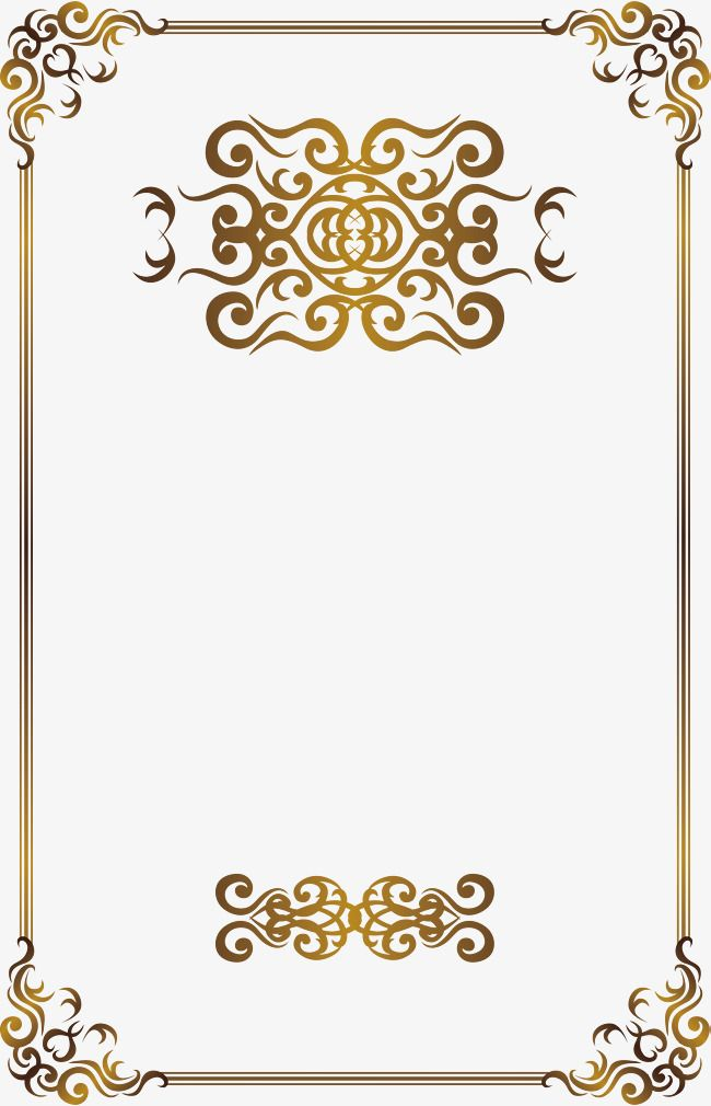 Classical Pattern Border European Style Winds Golden Border