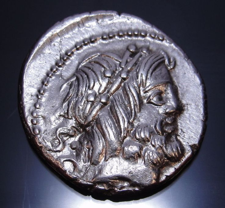 JUPITER and JUNO SOSPITA with King Cobra Roman republic coin Ex Clain.MS*