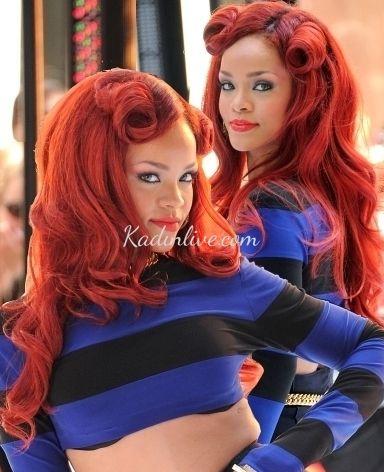 Rihanna Kızıl Saç Rengi 2016 Trendleri - Kadinlive.com