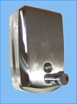 The Stainless Steel Soap Dispenser from Paragon Products, a leading supplier of healthcare products. Other dispensers in the range include round and square bottle dispensers and double bottle dispensers. Visit our site for more information.