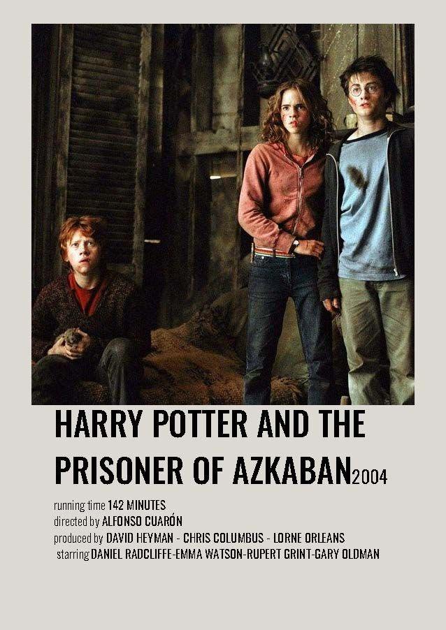 Harry Potter And The Prisoner Of Azkaban Minimalist Polaroid Movie Poster Harry Potter Movie Posters Harry Potter Film Harry Potter Poster