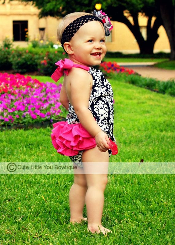 Home › littlelizardking › Matching Doll Daughter  Favorite  Like this item?  Add it to your favorites to revisit it later.  Sewing Pattern, Ruffled Sun Suit Romper - PDF Tutorial, girls and dolls, 0-3m to 4T