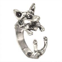 Una sola pieza ajustable hechos a mano Corgi anillo lobo Animal del bosque artículo moda para mujeres(China (Mainland))