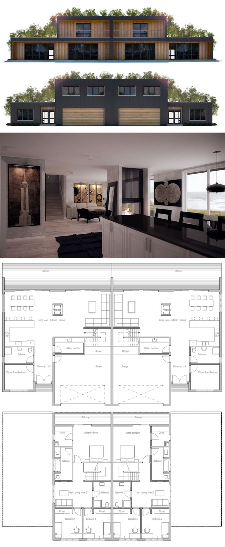 Find This Pin And More On Creative Design I Love This Duplex House Plan