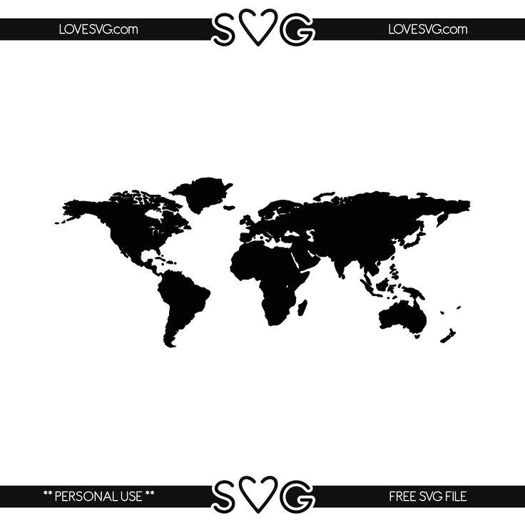 Free Svg Files Map World Cricut Carte Mondial