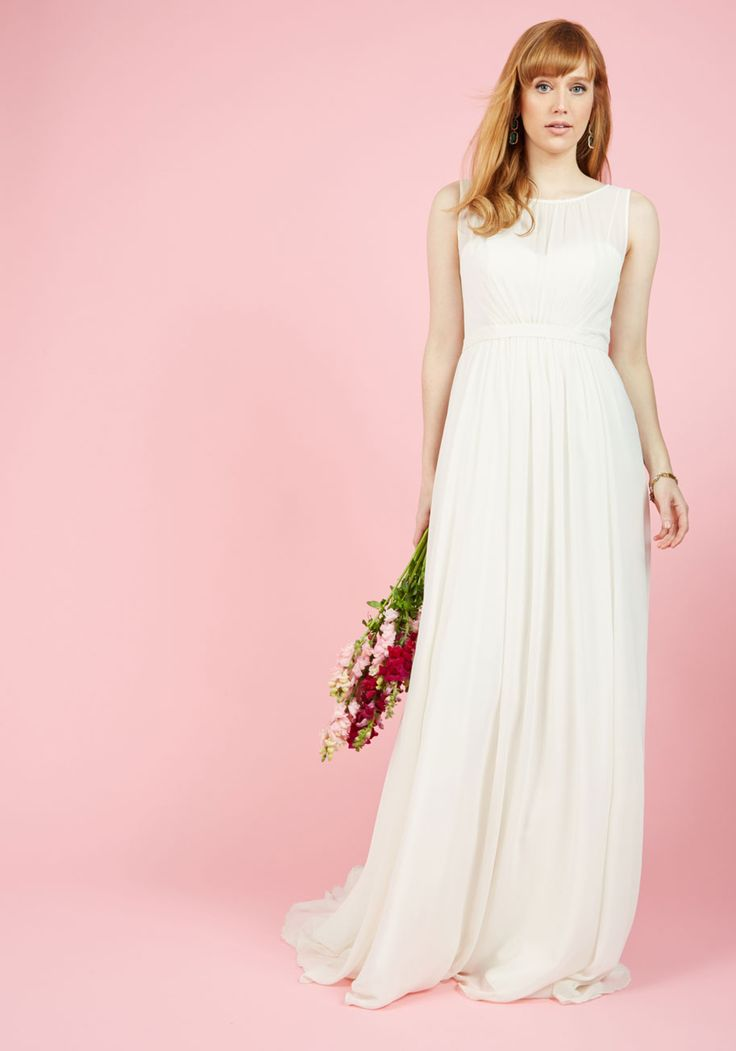 Reverie Moment With You Maxi Dress in Ivory. Sometimes life is so good it feels like a dream, and the day you don this ivory bridal gown by Jenny Yoo will be the most magical one imaginable! #white #wedding #bride #modcloth