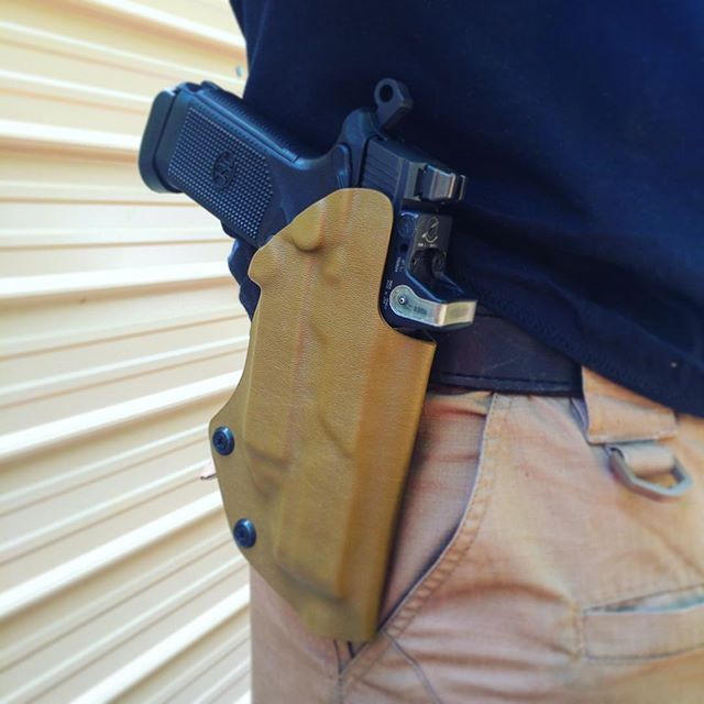 FNX 45 Tactical in a @daraholsters paddle holster.  Patented Design Daraholsters.com