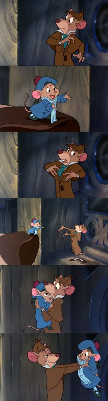 """""""There's always a chance, Doctor. As long as one can think."""" The Great Mouse Detective!"""