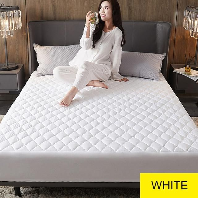 Waterproof Mattress Cover Bed Cover Multicolor Thickened Anti Mite Mat Creationsg Waterproof Mattress Waterproof Mattress Cover Mattress Covers